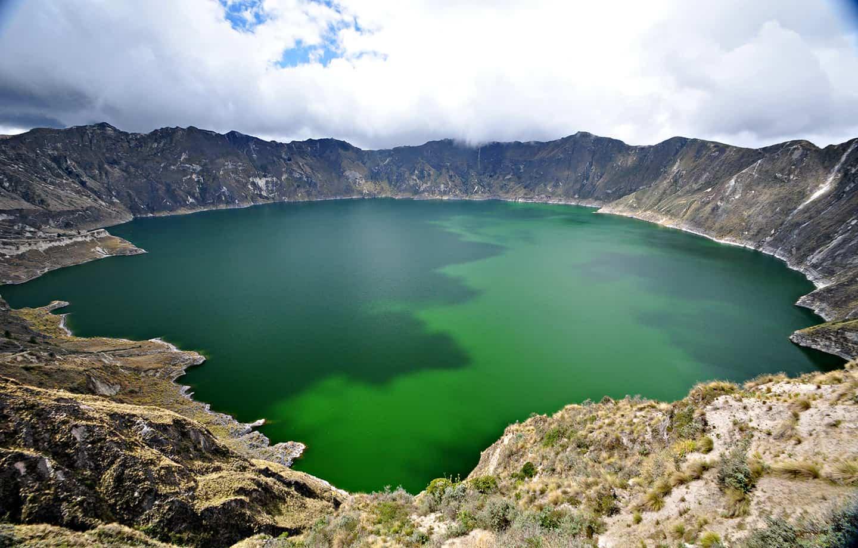 Quilotoa Lake Ecuador Hop
